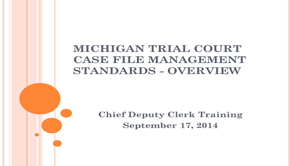Case File Management Standards - Overview