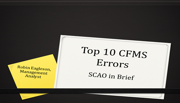 SCAO in Brief:  Top 10 Case File Management Standards Errors